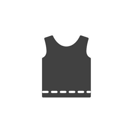 Singlet shirt vector icon. filled flat sign for mobile concept and web design. Men's tank top without sleeves glyph icon. Symbol, logo illustration. Vector graphics 일러스트
