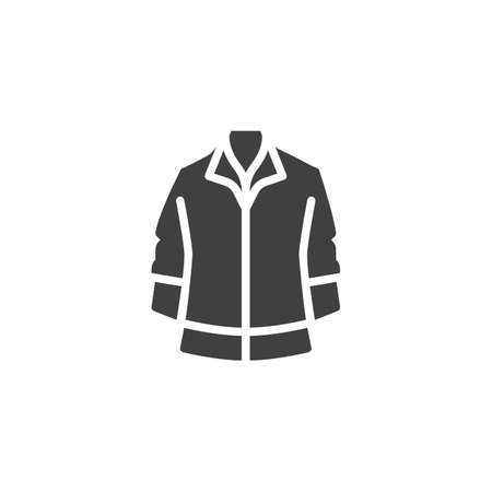 Mens jacket vector icon. filled flat sign for mobile concept and web design. Long sleeve jacket glyph icon. Symbol, logo illustration. Vector graphics Banque d'images - 140642571