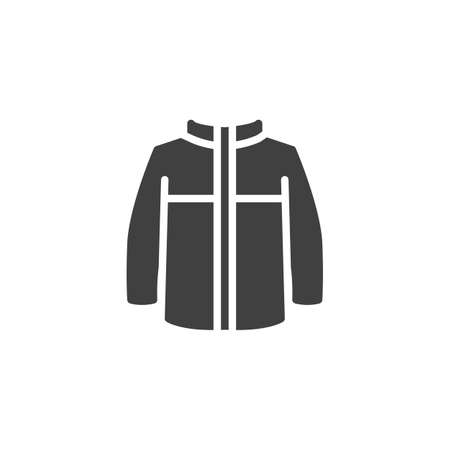 Mens jacket with long sleeves vector icon. filled flat sign for mobile concept and web design. Winter jacket, clothing glyph icon. Symbol, logo illustration. Vector graphics Banque d'images - 140642576
