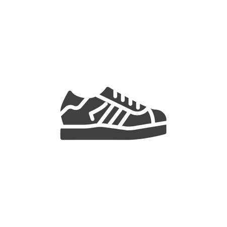 Sport shoe vector icon. filled flat sign for mobile concept and web design. Running shoe glyph icon. Symbol, logo illustration. Vector graphics Banque d'images - 140642604