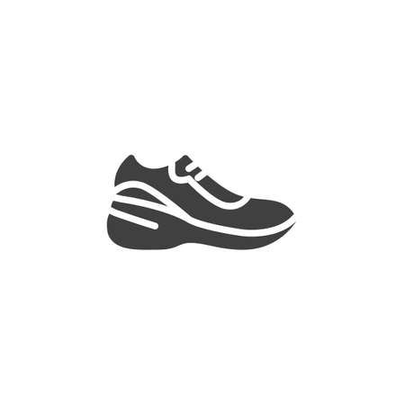 Sneaker footwear vector icon. filled flat sign for mobile concept and web design. Sport Shoes glyph icon. Symbol, logo illustration. Vector graphics Banque d'images - 140642607