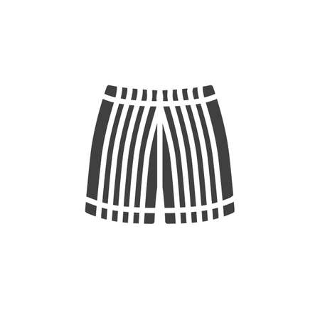 Mens Shorts with stripes vector icon. filled flat sign for mobile concept and web design. Trunks, shorts, clothing glyph icon. Symbol, logo illustration. Vector graphics Banque d'images - 140642616