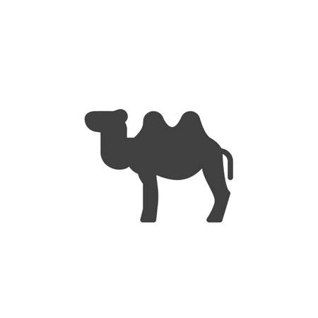 Bactrian camel vector icon. filled flat sign for mobile concept and web design. Two-humped camel glyph icon. Symbol, logo illustration. Vector graphics