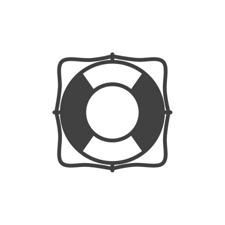 Lifebuoy vector icon. filled flat sign for mobile concept and web design. Lifesaver glyph icon. Safety symbol, logo illustration. Vector graphics 矢量图像