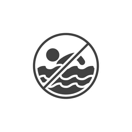 Do not swim vector icon. filled flat sign for mobile concept and web design. No swimming glyph icon. Symbol, logo illustration. Vector graphics Illusztráció