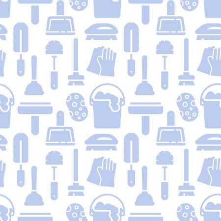 Housework, cleaning icons pattern. Cleaning service seamless background. Seamless pattern vector illustration