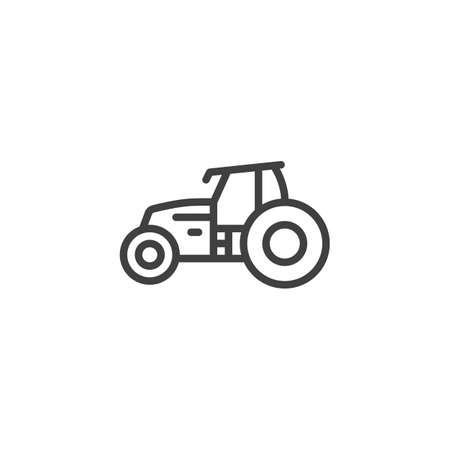 Tractor vehicle line icon. linear style sign for mobile concept and web design. Agriculture, Farming Tractor outline vector icon. Symbol, illustration. Vector graphics