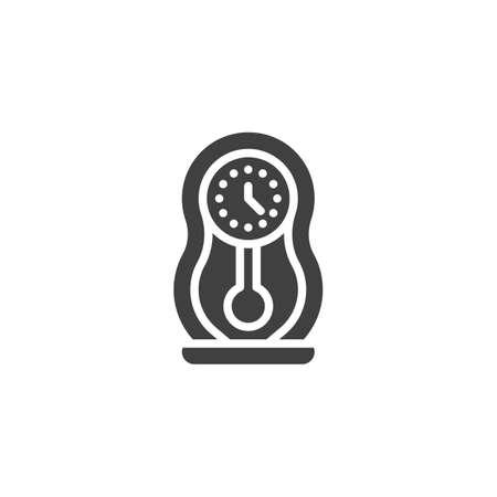 Pendulum clock vector icon. filled flat sign for mobile concept and web design. Retro wall clock glyph icon. Symbol, logo illustration. Vector graphics Stockfoto - 148016900