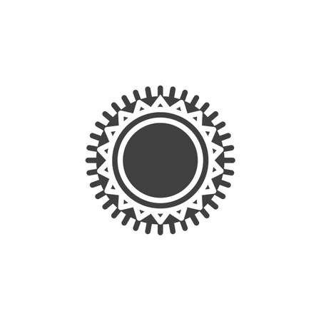 Round carpet vector icon. filled flat sign for mobile concept and web design. Decorative, circle rug glyph icon.  Vector graphics