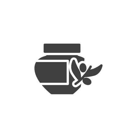 Spa essential cosmetics vector icon. filled flat sign for mobile concept and web design. Massage olive cosmetics glyph icon. Spa salon symbol illustration. Vector graphics