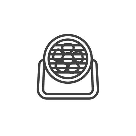 Industrial Fan line icon. linear style sign for mobile concept and web design. Floor fan outline vector icon. Symbol, logo illustration. Vector graphics