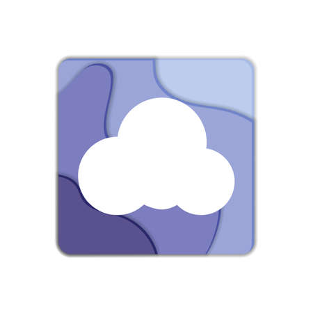Cloud flat icon, vector sign, cloud storage colorful pictogram isolated on white. Symbol, illustration. Flat style design