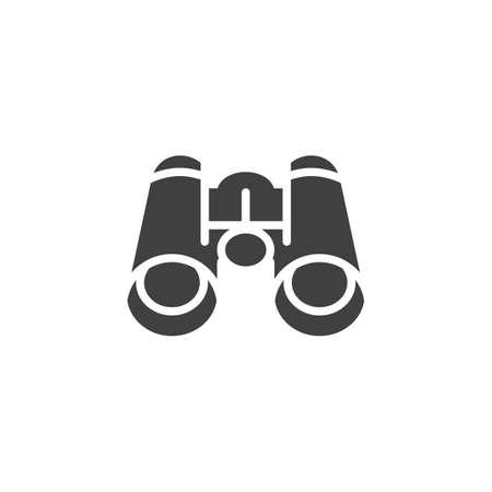 Binocular icon. filled flat sign for mobile concept and web design. binocular glyph icon. Spyglass symbol, illustration. Vector Illustration