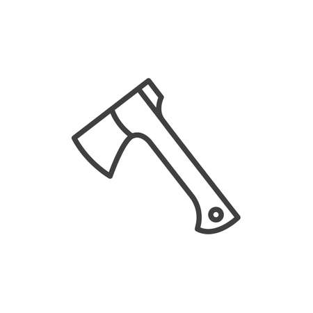 Modern axe line icon. linear style sign for mobile concept and web design. Ax outline vector icon. Symbol, logo illustration. Vector graphics