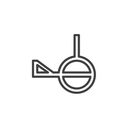 Demiagender line icon. linear style sign for mobile concept and web design. Demiagender with third gender outline vector icon. Symbol, logo illustration. Vector graphics