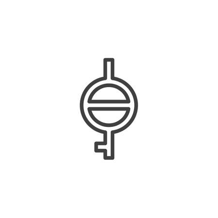 Demiagender with demigirl line icon. linear style sign for mobile concept and web design. Bigender outline vector icon. Symbol, logo illustration. Vector graphics