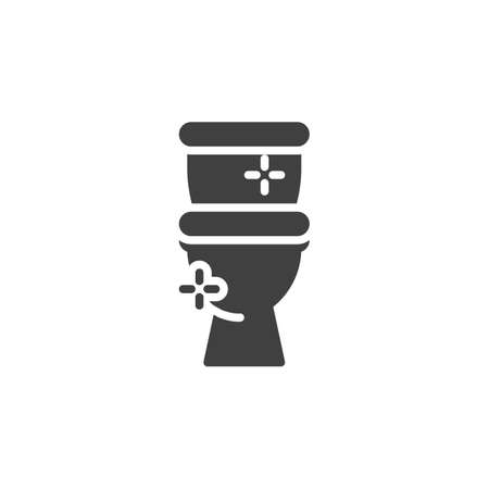 Clean toilet vector icon. filled flat sign for mobile concept and web design. Toilet bowl glyph icon. Symbol, logo illustration. Vector graphics
