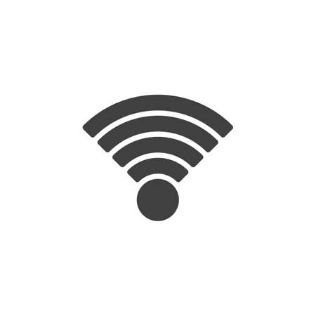 Wifi Signal vector icon. filled flat sign for mobile concept and web design. WiFi network signal glyph icon. Symbol, logo illustration. Vector graphics
