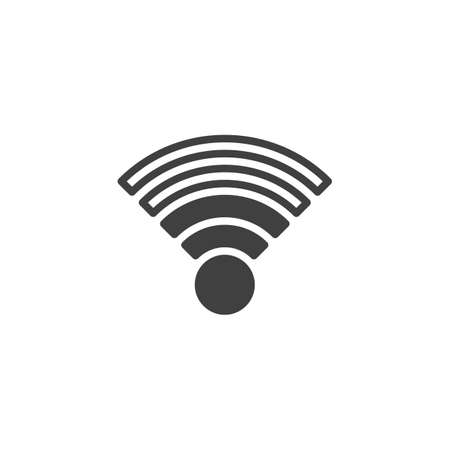 WiFi network signal vector icon. filled flat sign for mobile concept and web design. Wifi Signal glyph icon. Symbol, logo illustration. Vector graphics