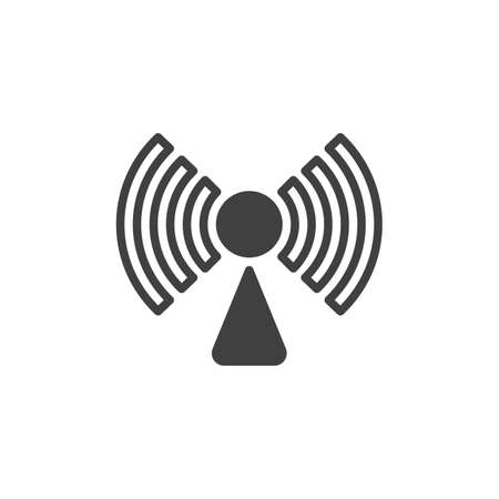 Wireless connection signal vector icon. filled flat sign for mobile concept and web design. Wifi network signal glyph icon. Symbol, logo illustration. Vector graphics