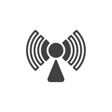 Wifi network signal vector icon. filled flat sign for mobile concept and web design. Wireless connection signal glyph icon. Symbol, logo illustration. Vector graphics