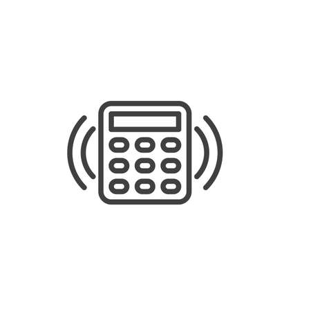 Smart home security system line icon. linear style sign for mobile concept and web design. Smart home remote control outline vector icon. Symbol,   illustration. Vector graphics