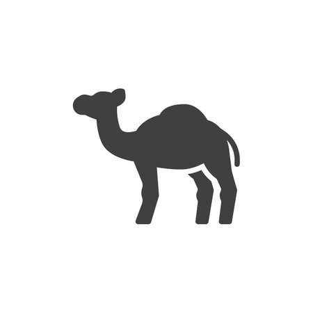 Camel, animal vector icon. filled flat sign for mobile concept and web design. Camel, side view glyph icon. Symbol, logo illustration. Vector graphics 免版税图像 - 153688751