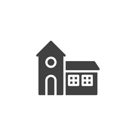 Ghost house vector icon. filled flat sign for mobile concept and web design. Halloween haunted house glyph icon. Symbol, logo illustration. Vector graphics