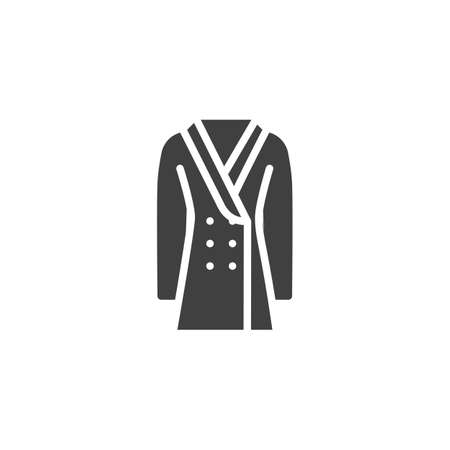 Double-breasted coat vector icon. filled flat sign for mobile concept and web design. Coat with buttons glyph icon. Symbol, logo illustration. Vector graphics Illustration