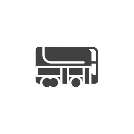 Double decker bus vector icon. filled flat sign for mobile concept and web design. City transport bus glyph icon. Symbol, logo illustration. Vector graphics Stock Illustratie