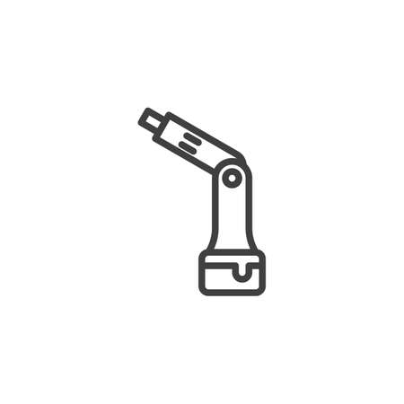 Cordless screwdriver line icon. linear style sign for mobile concept and web design. Battery screwdriver outline vector icon. Symbol,   illustration. Vector graphics