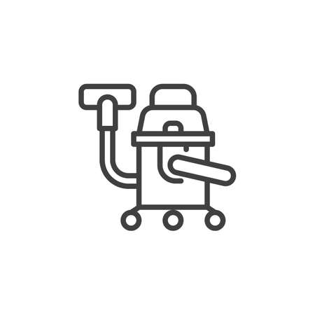 Industrial vacuum cleaner line icon. linear style sign for mobile concept and web design. Vacuum cleaner outline vector icon. Symbol,   illustration. Vector graphics