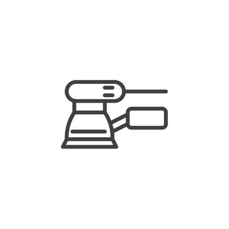 Orbital sander line icon. linear style sign for mobile concept and web design. Woodworking tool sanding machine outline vector icon. Symbol,   illustration. Vector graphics