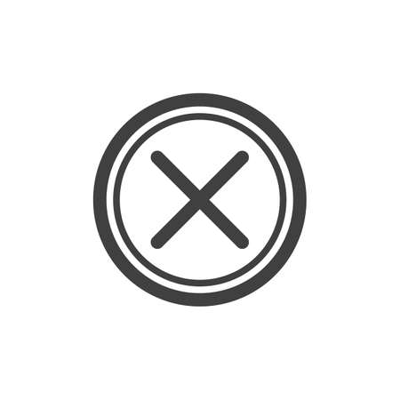 Cancel, delete button line icon. Remove linear style sign for mobile concept and web design. Cross mark outline vector icon. Symbol, logo illustration. Vector graphics 일러스트
