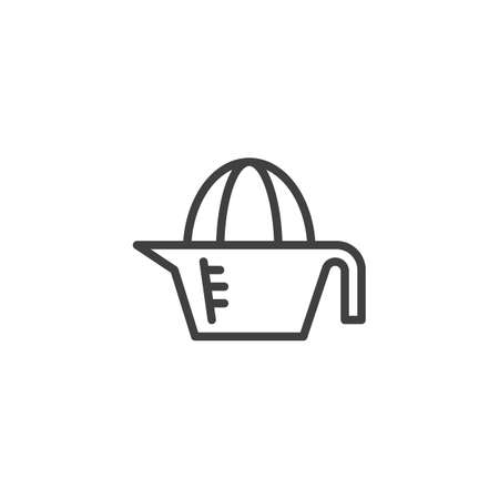 Lemon squeezer line icon. linear style sign for mobile concept and web design. Juicer squeezer outline vector icon. Symbol, illustration. Vector graphics