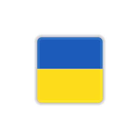 Ukrainian national flag flat icon, vector sign, official flag of Ukrainian colorful pictogram isolated on white. Symbol, logo illustration. Flat style design
