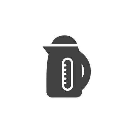 Electric kettle vector icon. filled flat sign for mobile concept and web design. Electric tea pot glyph icon. Symbol,  illustration. Vector graphics Ilustrace