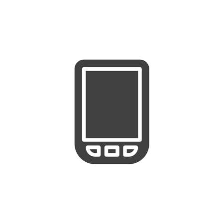 E-book reader vector icon. filled flat sign for mobile concept and web design. Electronic book reader glyph icon. Symbol,  illustration. Vector graphics