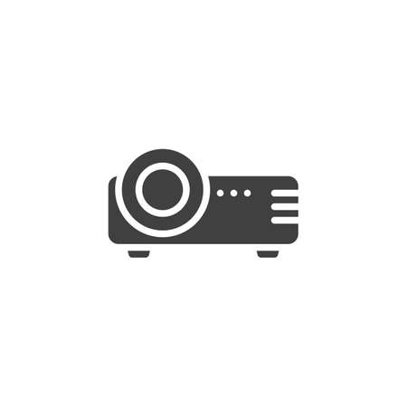 Projector vector icon. filled flat sign for mobile concept and web design. Cinema projector glyph icon. Symbol,  illustration. Vector graphics