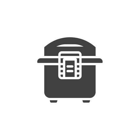 Multi Cooker vector icon. filled flat sign for mobile concept and web design. Electric cooker glyph icon. Symbol,  illustration. Vector graphics