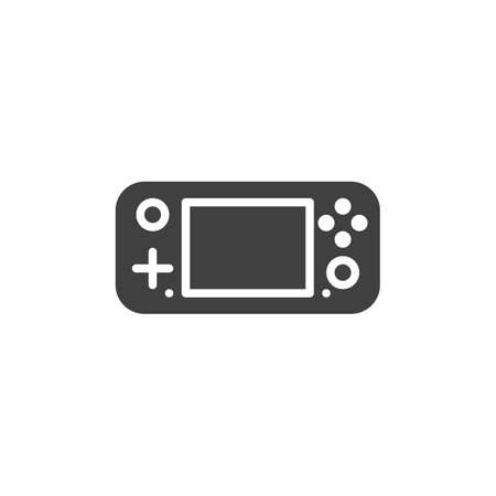 Gamepad console vector icon. filled flat sign for mobile concept and web design. Handheld gamepad glyph icon. Symbol,  illustration. Vector graphics 矢量图像