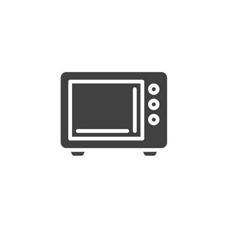 Microwave oven vector icon. filled flat sign for mobile concept and web design. Electric microwave glyph icon. Symbol,  illustration. Vector graphics Ilustrace