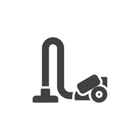 Vacuum Cleaner vector icon. filled flat sign for mobile concept and web design. Wireless vacuum cleaner glyph icon. Symbol, Ilustrace
