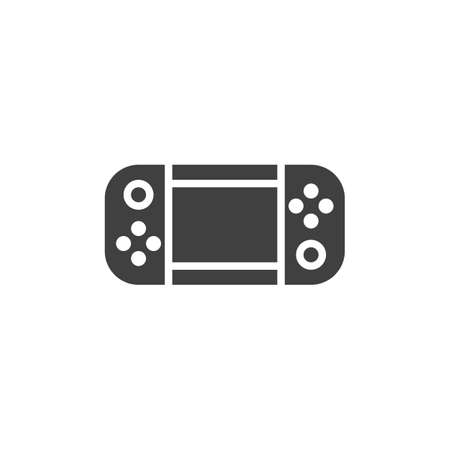 Handheld game console vector icon. filled flat sign for mobile concept and web design. Gamepad glyph icon. Symbol,  illustration. Vector graphics