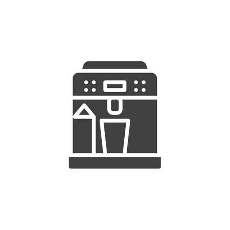 Coffee machine vector icon. filled flat sign for mobile concept and web design. Water dispenser machine glyph icon. Symbol,  illustration. Vector graphics