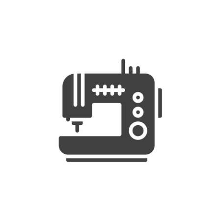 Sewing machine vector icon. filled flat sign for mobile concept and web design. Electric sewing machine glyph icon. Symbol,  illustration. Vector graphics