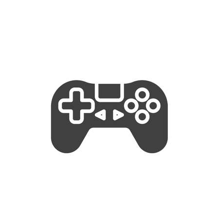 Joystick game controller vector icon. filled flat sign for mobile concept and web design. Gaming joystick glyph icon. Symbol,  illustration. Vector graphics