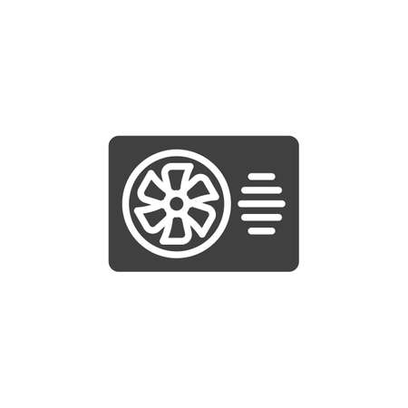 Exhaust ventilator vector icon. filled flat sign for mobile concept and web design. Toilet fan glyph icon. Symbol,  illustration. Vector graphics