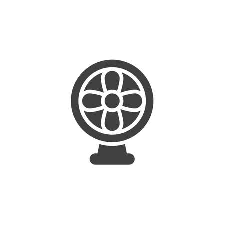 Table fan vector icon. filled flat sign for mobile concept and web design. Electric fan glyph icon. Symbol,  illustration. Vector graphics Ilustrace