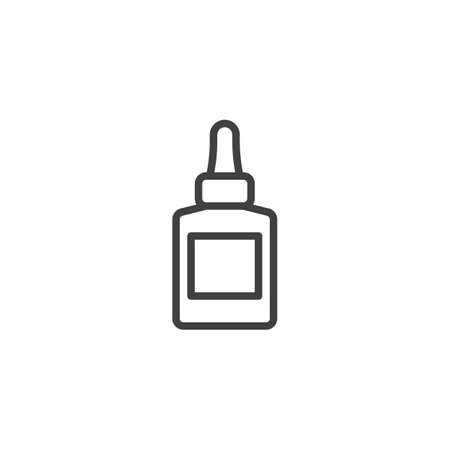 Nail polish line icon. linear style sign for mobile concept and web design. Fingernail polish outline vector icon. Symbol, logo illustration. Vector graphics